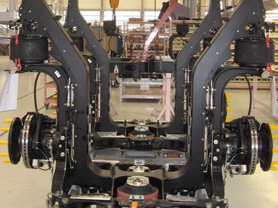 Cadre module intermédiaire de Tramway / Tramway intermediate modular frames