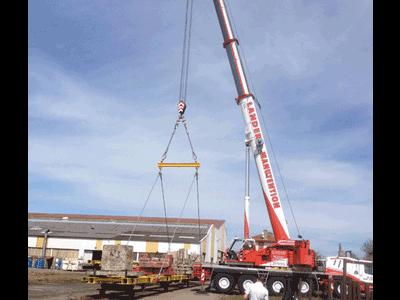 Ensemble d'épreuve mécano-soudé / Mechanically welded subassembly lifting test