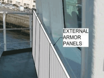 Plaques de protection extérieures pour navire / Vessels' outside armored panels