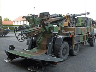 Canon automoteur CAESAR / CAESAR Self-propelled artillery