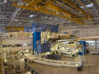 Ligne de montage A350 / A350 assembly line