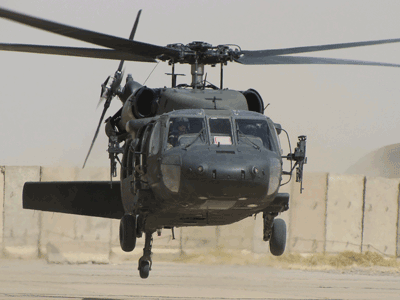 Surprotection balistique pour hélicoptère type Black Hawk / Ballistic add on armor for Black Hawk helicopter